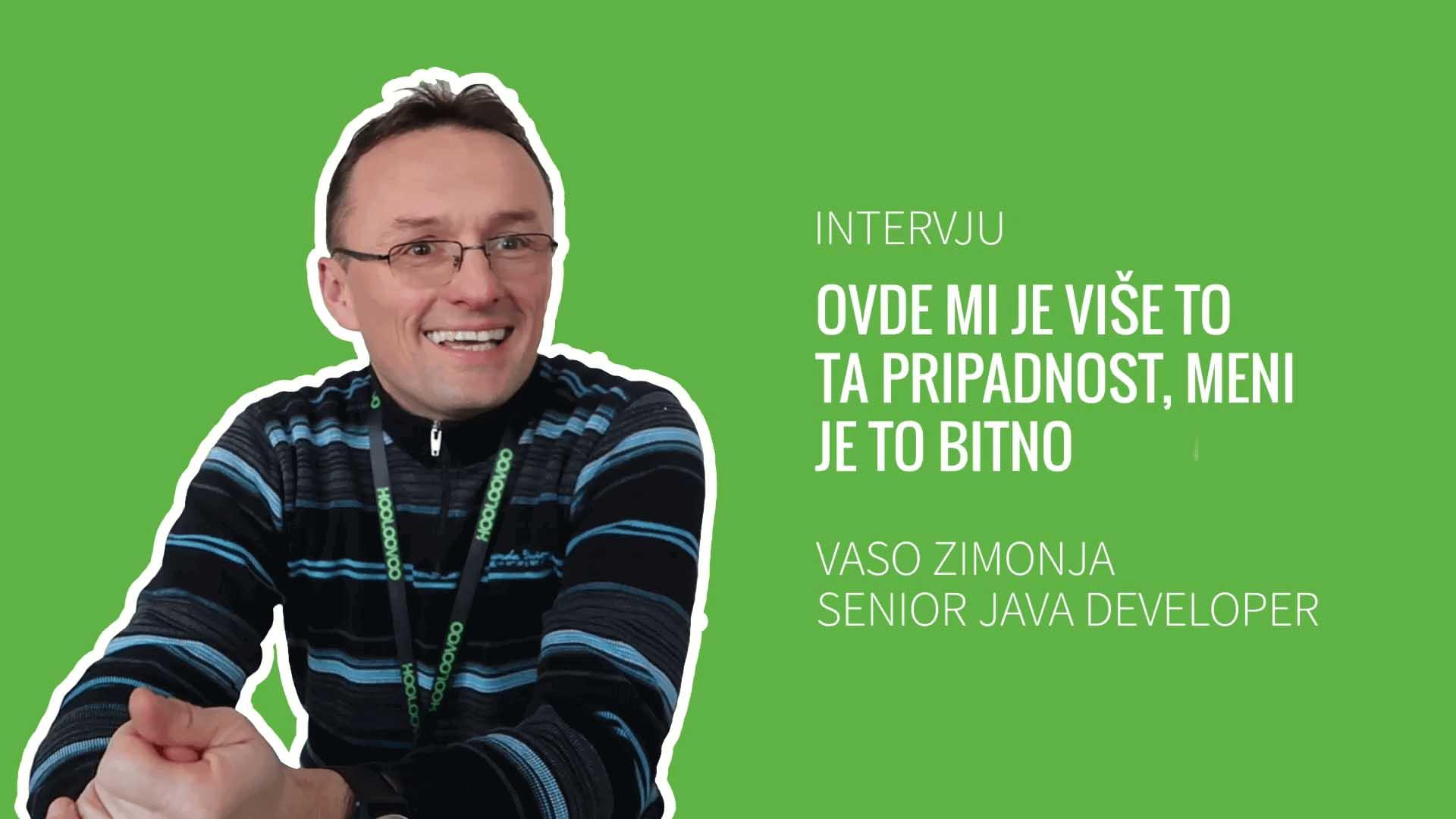 INTERVJU :  Vaso Zimonja