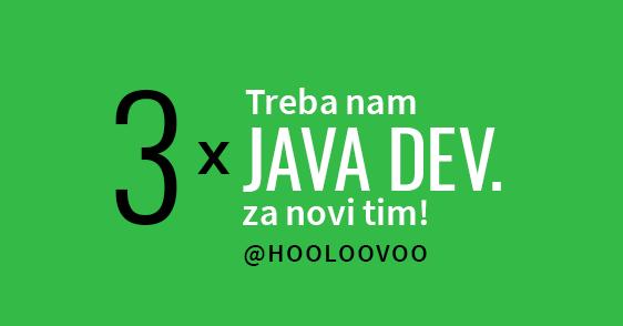Treba nam 3x Java Dev za novi tim!