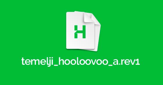 Dokument koji je osnova HOOLOOVOO-a: Feedback wanted