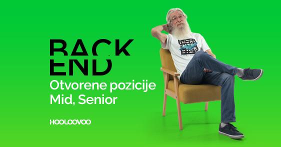 BACKEND. Otvorene pozicije – Mid, Senior