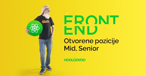 FRONTEND. Otvorene pozicije – Mid, Senior